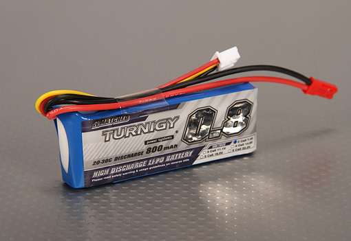Turnigy  2S 800 mAh 20C long pack