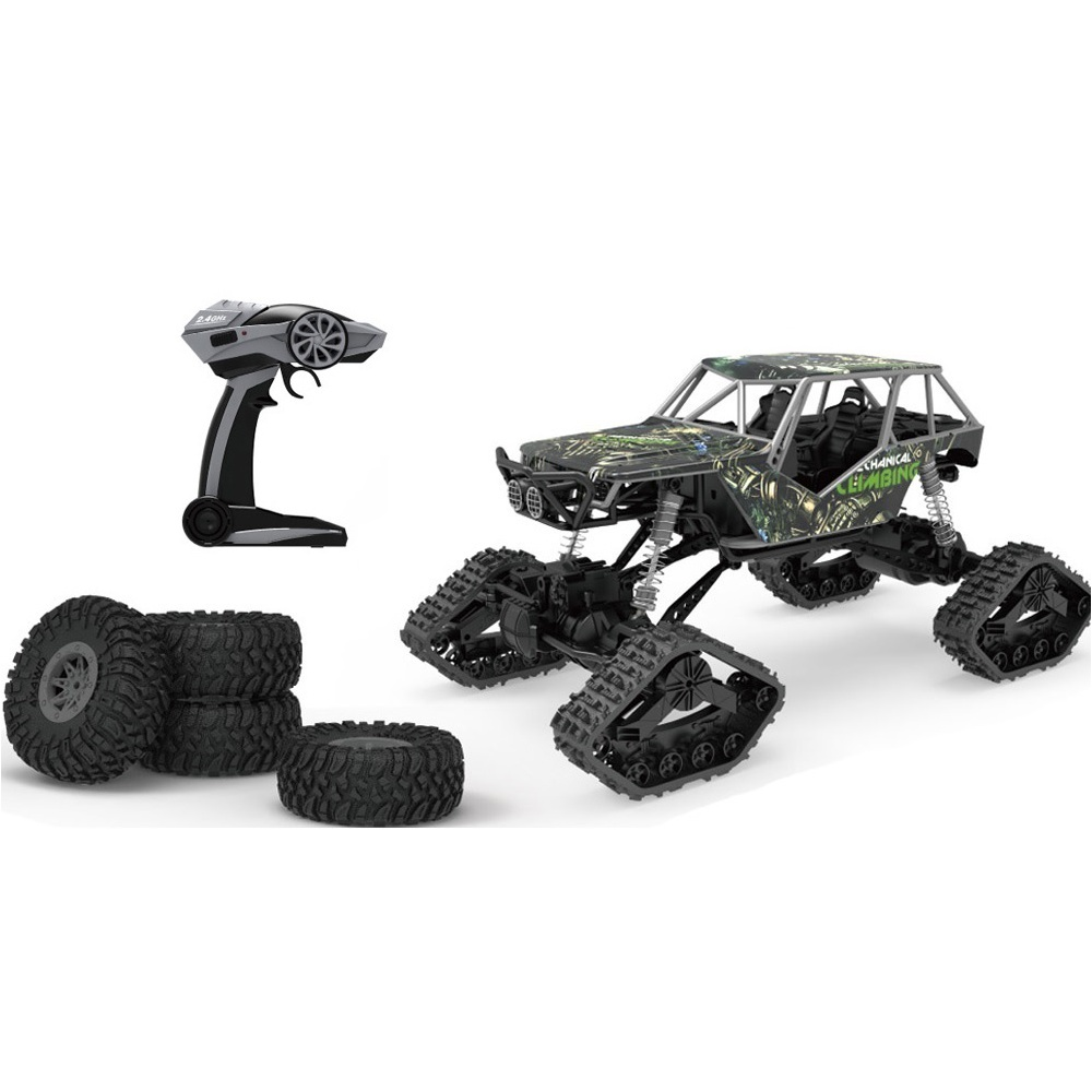 Crawler XXL Type Rally Car 4WD, 1:10, kola i pásy, LED, RTR